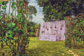 婚礼管家---【幸福玫瑰园】森系婚礼布置