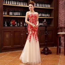 礼服2016春季新款红色新娘结婚敬酒服鱼尾长款晚礼服112