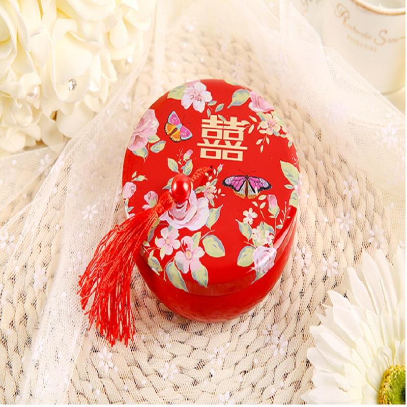 结婚用品 成品喜糖 >定制 新款婚礼糖盒 喜糖盒子马口铁圆形铁盒婚庆