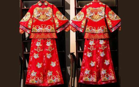 浠颜定制  中式 婚纱礼服 男女礼服定制