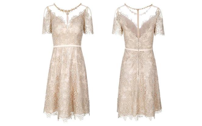 新娘 伴娘 礼服  金色短款礼服