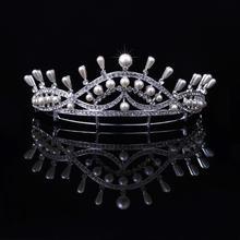 Angelababy同款新娘皇冠头饰韩式珍珠结婚发饰
