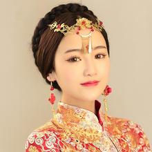 新娘中式古典头饰额饰盘扣耳环新娘结婚配饰品