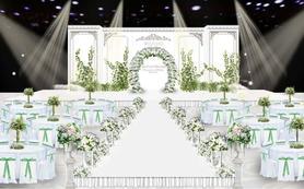 【artisan婚礼匠】白绿色森系小清新设计婚礼