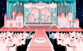 【婚礼匠】Tiffany蓝粉色童话旋转木马婚礼
