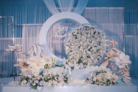 时光印迹私人婚礼定制-水蓝色唯美浪漫主题婚礼-初