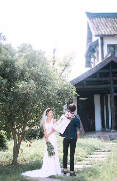 【海洋之星】韩式婚纱摄影样片欣赏 园林