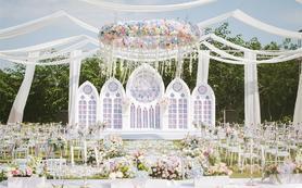 【花堂喜事婚礼】——清新甜美户外教堂婚礼