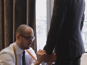 男士礼服修身型青果领婚纱礼服
