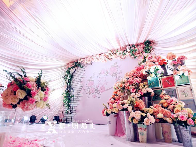 【曦妍婚礼出品】 郫县铜壶苑 梦中的花园 婚礼现场鲜花布置