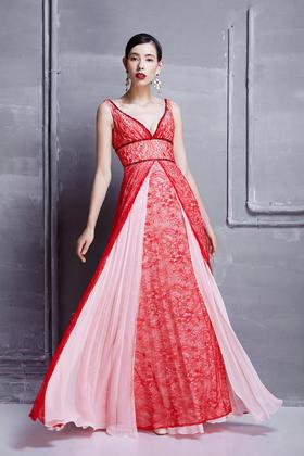 大红色敬酒、晚宴礼服单件租用