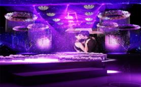 浪漫温馨 电影主题 紫色大型高端婚礼香格里拉酒店