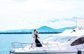 【浪漫游艇出海】-八零婚纱摄影-三亚站