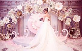 婚纱三件套餐-糖果婚纱时尚高端系列 1680