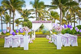 「户外草坪婚礼」海棠湾天房洲际酒店 紫色的梦