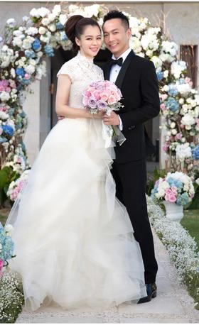 【Y-LIFE】徐若瑄同款 复古蕾丝欧根纱婚纱