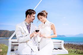 文艺婚纱照「滨海钢琴」三亚·时光海婚纱摄影