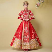 送秀禾头饰三件套!新娘中式婚服嫁衣BABY同款秀禾服高贵典雅