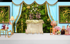 【artisan婚礼匠】马卡龙蓝欧式森系轻奢婚礼