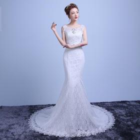 包邮 新款韩式鱼尾小拖尾修身显瘦新娘结婚礼服YL22