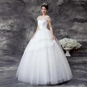 婚纱新款韩式绑带显瘦结婚礼服YL30