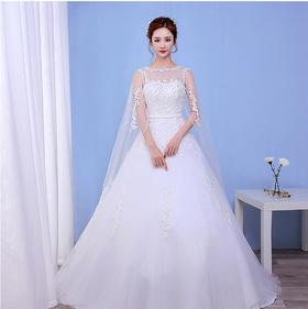 婚纱礼服 新娘 新款韩式齐地包肩婚纱孕妇大码