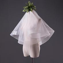 新娘结婚头纱简约正品 瑞士软网 素纱裸纱短款1.5米