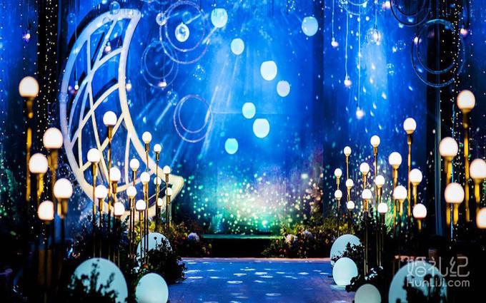 仪式区 多层次森系背景造型 搭配主题幕前造型设计 森系婚礼主题