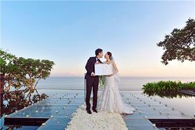 巴厘岛 宝格丽酒店 水上平台婚礼