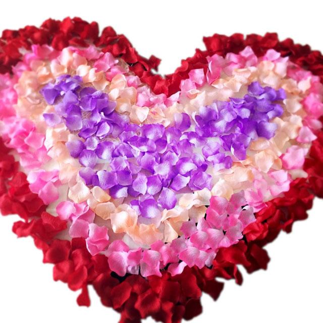 装扮浪漫喜房仿真玫瑰花瓣 花婚房装饰道具
