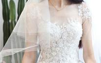 婚纱礼服 新款齐地一字肩新娘结婚大码显瘦奢华定制婚纱秋