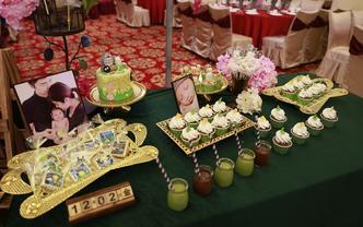 La Diva娜蒂花主题翻糖宴会甜品桌套餐1