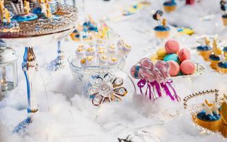 LaDiva娜蒂花主题翻糖甜品桌布置奢华套餐