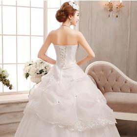 婚纱礼服新款 韩版齐地抹胸新娘婚纱时尚大码胖婚纱