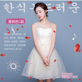 伴娘服 新款夏季伴娘礼服韩式伴娘团姐妹裙短款