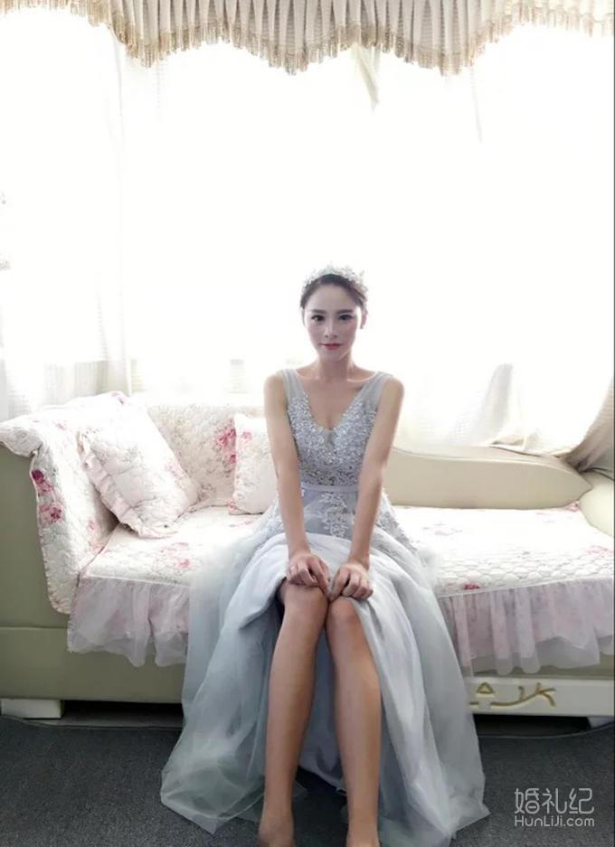 秀尔婚纱—灰色敬酒服 晚礼服