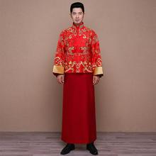 晓明款古装秀禾服男士龙凤褂礼服中式婚礼新郎结婚敬酒服