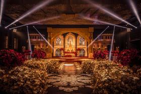 银禧婚礼 欧式婚礼场布与灯光的完美结合