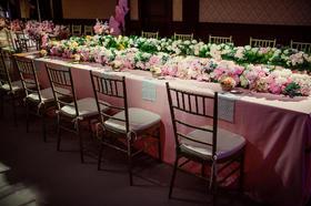 长条桌形式婚礼布置【J&M】