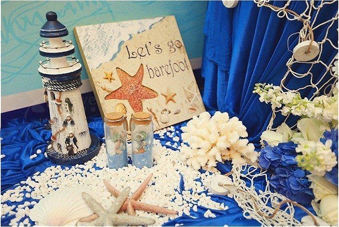 忠诚永恒的爱情--丝苔特 蓝色主题婚礼布置