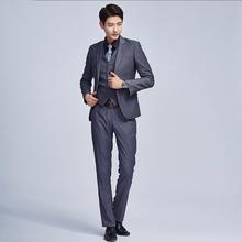 送黑衬衫领带】e男士西服套装韩版小西装新郎结婚修身礼服