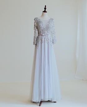 【帝安娜婚纱】五十度灰礼服
