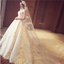 晒图返现20!韩式抹胸婚纱新款新娘结婚修身简约奢华婚纱拖尾