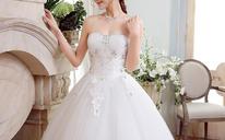 新款结婚纱礼服韩版显瘦修身齐地长拖尾孕妇抹胸绑带