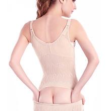 包邮 加强版超薄后脱式塑身衣连体产后无痕收腹束腰束身内衣胖M