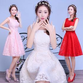 伴娘礼服 新款短款订婚小礼服连衣裙婚礼新娘敬酒服晚礼服