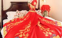 爱约妮 新款秋冬秀禾服新娘礼服嫁衣长款中式敬酒服拖尾秀