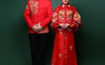 新郎秀禾服男装中式龙凤褂敬酒服中山装男士刺绣红色结婚礼服