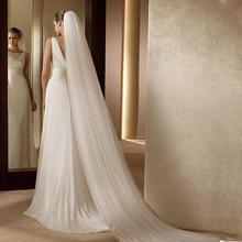 3米超长两层高档素纱新娘头纱奢华头纱