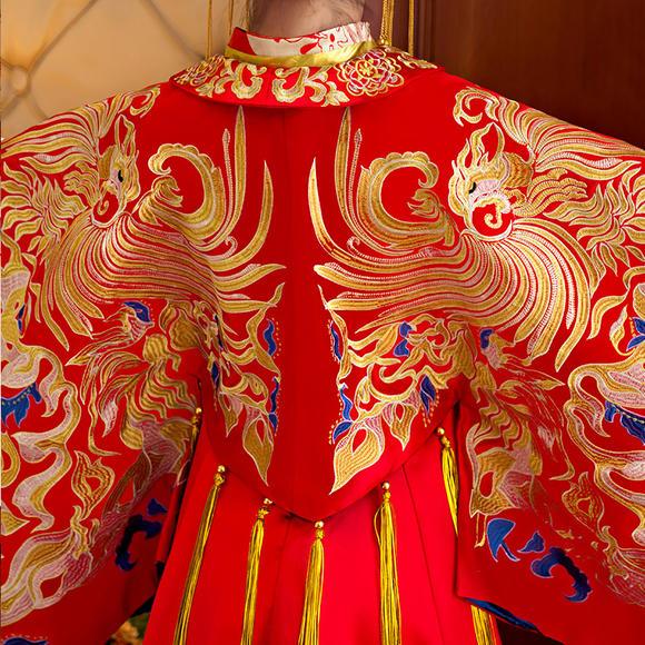 凤冠霞帔新娘装嫁衣秀禾服龙凤褂中式新娘服礼仪演出XH620